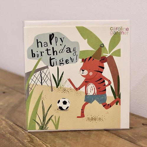 Happy Birthday Tiger, Birthday Card
