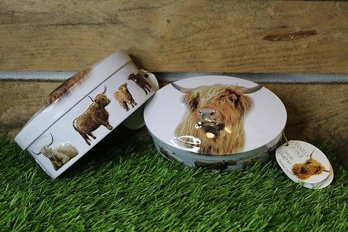 Vanilla fudge, Highland cow tin