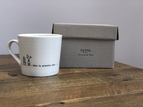 This is probably wine - Porcelain Mug