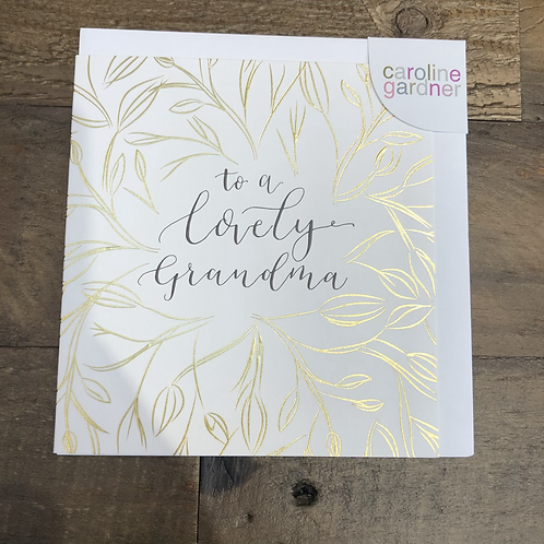 To a lovely Grandma, Card