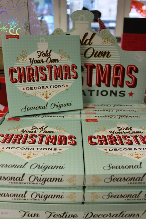 Fold your own Christmas Decorations