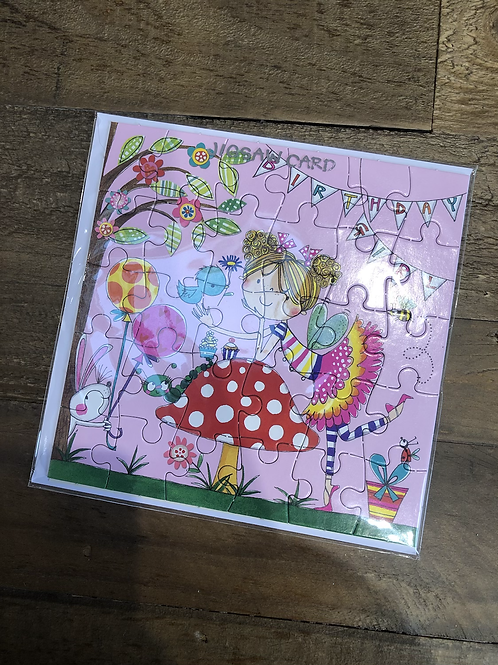 Fairy, Happy Birthday Jigsaw Card