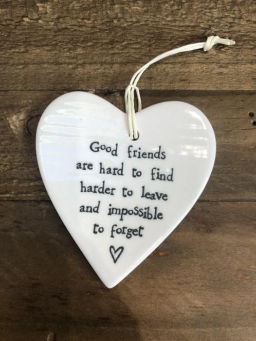 Good Friends... - Porcelain Heart