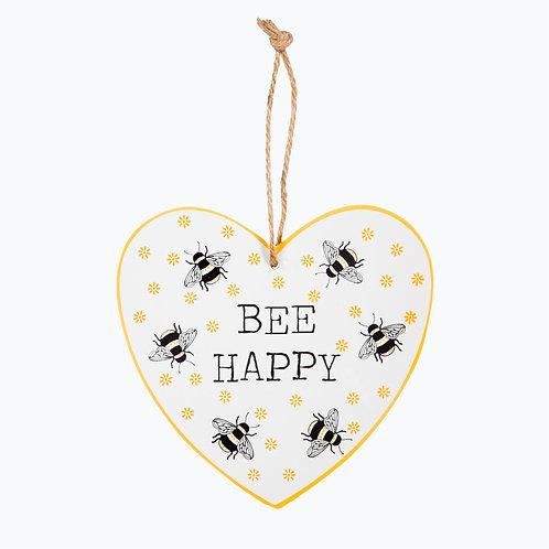 Bee Happy, Heart Plaque