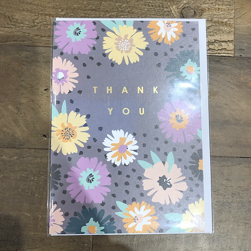 Thank you. Floral Card