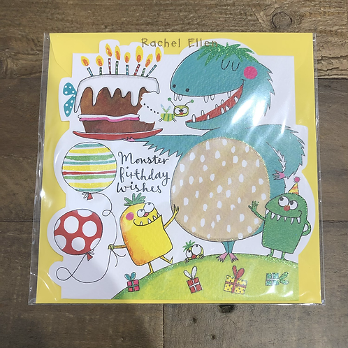 Monster Birthday Wishes, Card