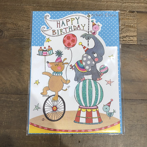 Happy Birthday, Circus Card