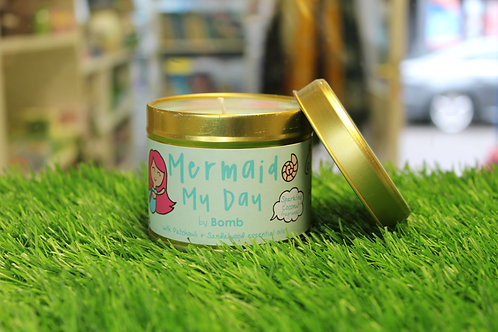 Mermaid My Day, Tinned Candle
