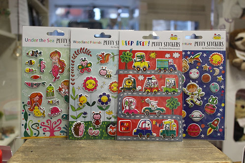 Puffy Stickers, 5 Designs