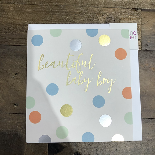 Beautiful baby boy, Spotty Card