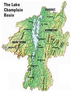 Lake Champlain Basin Map