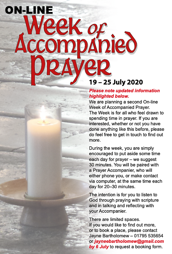 Week of accompanied prayer Flyer June 20