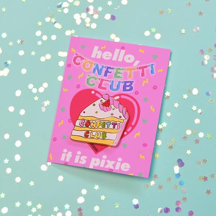 Confetti Club Cake Pin