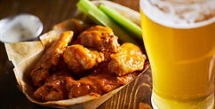 beer and hot buffalo chicken wings in tr