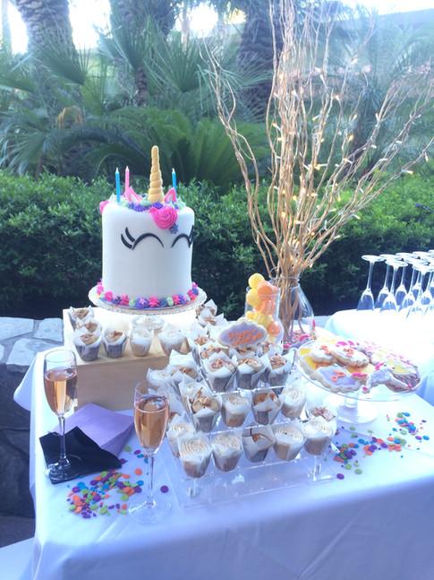 Custom Unicorn cake for birthday party in scottsdale