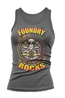 Foundry Rocks Tank Top Gray
