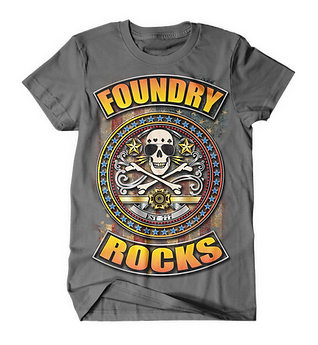 Foundry Rocks T-Shirt Gray