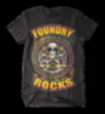 Foundry Rocks T-Shirt Black