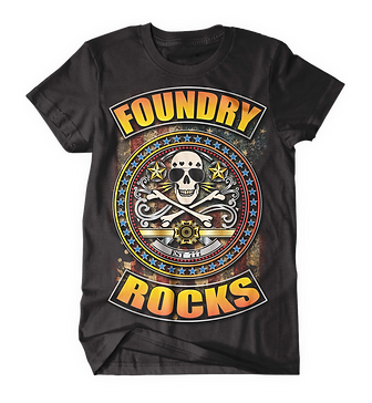 Foundry Rocks T-Shirt Black