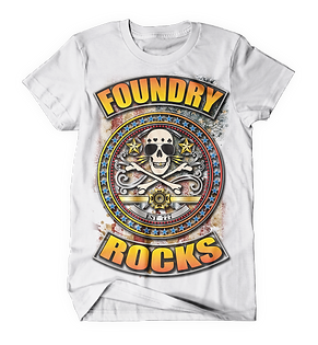 Foundry Rocks T-Shirt White