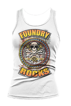 Foundry Rocks Tank Top White