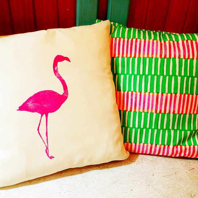 Instagram - Two faced flamingo! #bright #printed #madewithheart