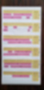 AGEsセンサの予約管理表は、貸出中(ピンクで塗りつぶし)で予約が埋まっている状況です