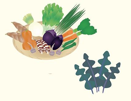 食物繊維は 野菜・海藻 など