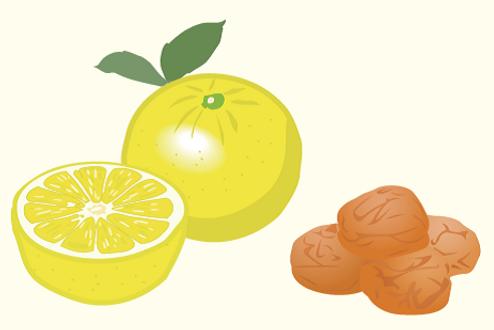 クエン酸は グレープフルーツ・梅干し など