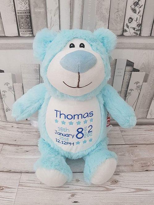 "Cubbyford Bear 15"" Baby Blue"