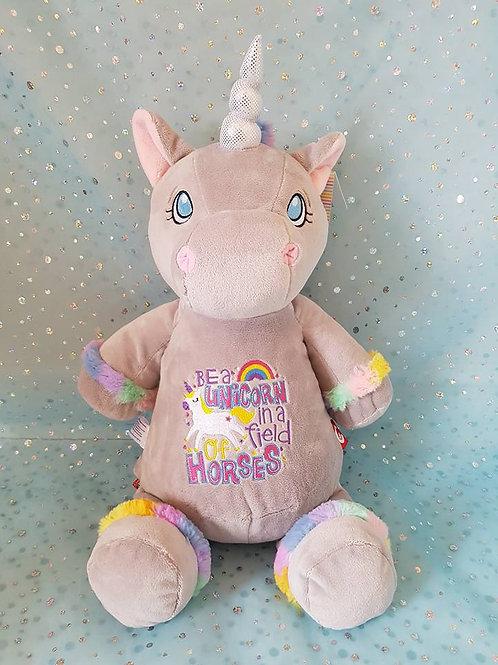 Unicorn in Field of Horses Unicorn