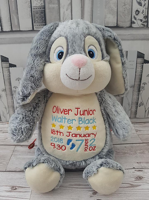 "Clovis Brampton Furlong III 15"" Grey Bunny"