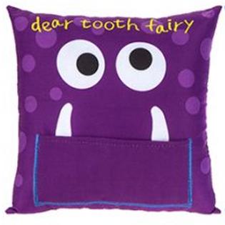 Tooth Fairy Monster Cushion, Purple