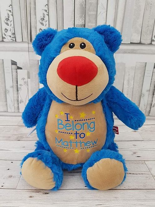 "Cubbyford Bear 15"" Royal Blue"