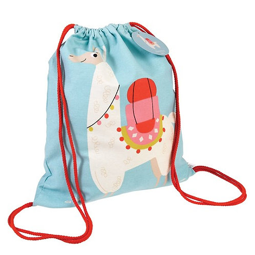 Personalised Children's Dolly the Llama Drawstring Bag, Free Embroidered