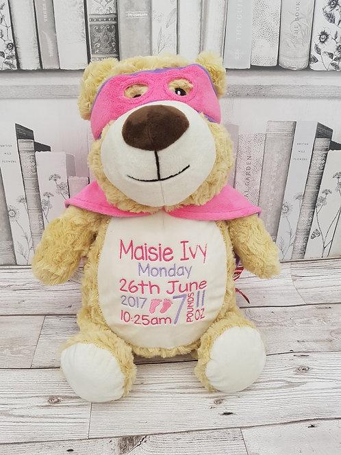 "Cubbyford 15"" Hero Bear Pink"
