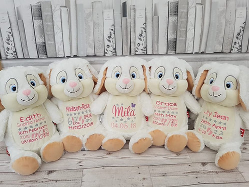 "Clovis Brampton Furlong III 15"" White Bunny"