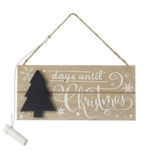 Days Until Christmas Tree Countdown Chalkboard