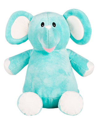 "Elle 15"" Mint Green Elephant"