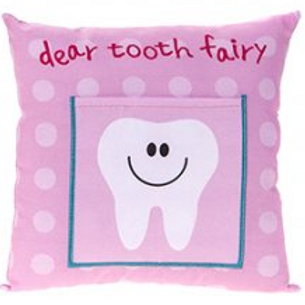 Tooth Fairy Tooth Cushion, Pink