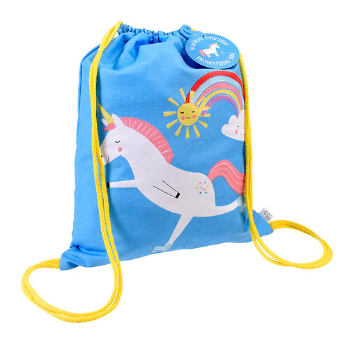 Personalised Children's Magical Unicorn Drawstring Bag, Free Embroidered Name