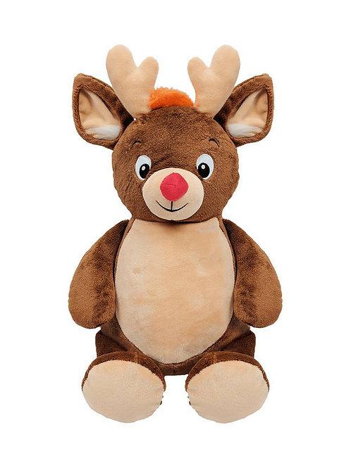 Christmas Reindeer Rudolph Cubbies Personalised Embroidery Teddy Bear