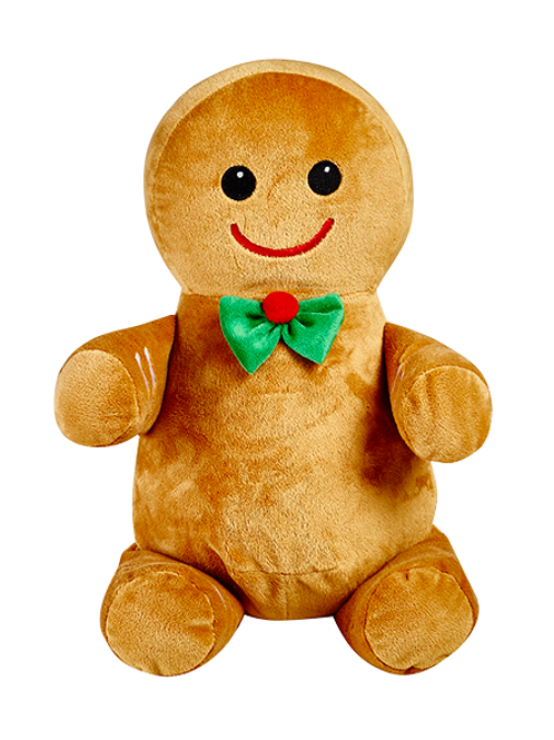 Christmas Gingerbread Man Cubbies Personalised Embroidery Teddy Bear