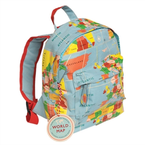 Bella's Boutique Title Personalised Mini Backpack World Map Gift for Children