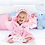 Thumbnail: Dressing Gown 12-18m,18-24m Blue or Pink