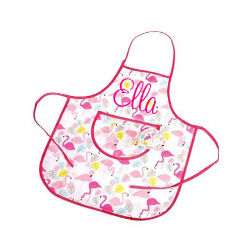 Bella's Boutique Title Personalised Flamingo Gift Apron for Children