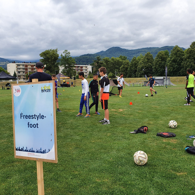Animation Football Freestyle à Grenoble !
