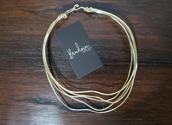 Colar Baudoin Design - Cor: Dourado