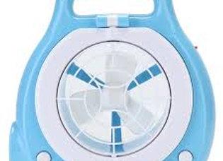 Ventilador Recarregável com Lanterna Embituda Azul