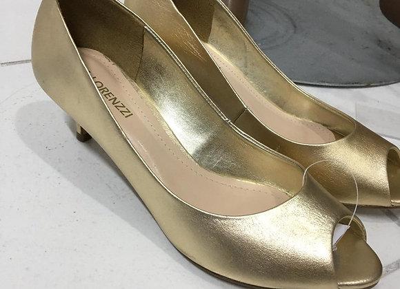 Sapato Via Lorenzi Dourado Tam. 37
